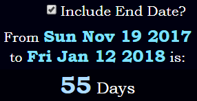 55 days between deaths