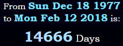 14,666 days old